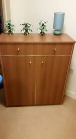 Folding Bed in A Teak Cabinet In Excellent Condition