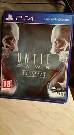 As new until dawn extended edition ps4
