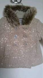 Girls Sparkly Next coat. Brand New!!