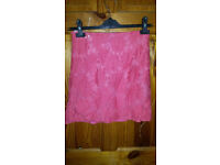 New look coral skirt size 8