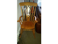 Traditional Wooden Grandfather Windsor Style Rocking Chair