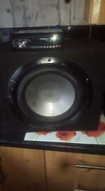 Sub and pioneer cd player