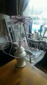 Shabby Chic Lamp ♡♡ Now £10 Offer