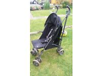 Unisex pushchair/stroller with raincover