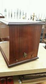 New in box rosewood cabinet /bar