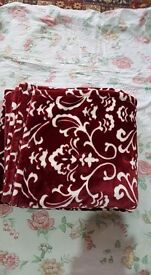 Brand new red throw £25