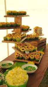 Rustic Cupcake Dessert Stands for Weddings Decor