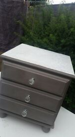 drawers unit grey and silver solid wood