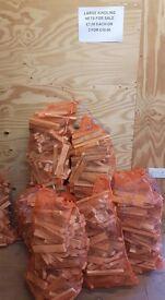 3 large nets of kindling £10.00 firewood