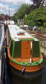 "60"" narrow boat on large mooring in Wraysbury"
