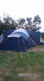 8 berth tent.Immaculate.only used twice. really spacious. easy to put up and take down.
