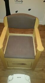 Thetford Commode pine comfy chair