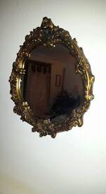 Large antique ornate gilt mirror