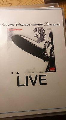 Dream Concert Series Presents  Led Zeppelins Led Zeppelin 1 Live On Dvd    Rare