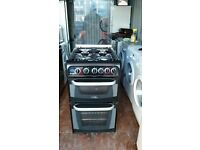 50cm 'Cannon' Black Gas Cooker - Excellent condition(6 months old) / Free local delivery