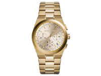 Michael Kors MK5926 Womens Gold Channing Chrono Gold Tone Bracelet Watch - SALE