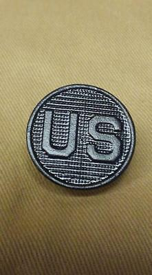 """WWI US Collar Disk """"French made""""  Black variation 1"""