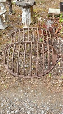 Antique Hay Racks Cast Iron Very Large & Heavy x 2