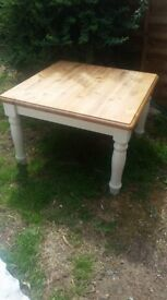 solid pine shabby chic farmhouse coffee table