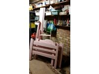 solid wood pink bunk bed frame