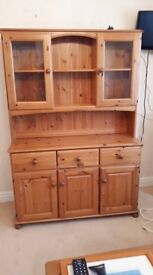 Solid Pine Welsh Dresser in Very Good Condition