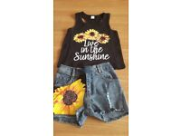Summer out vest top and shorts