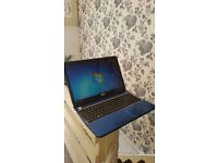 electric blue dell laptop - core i3 - 600 gb hard drive - BARGAIN