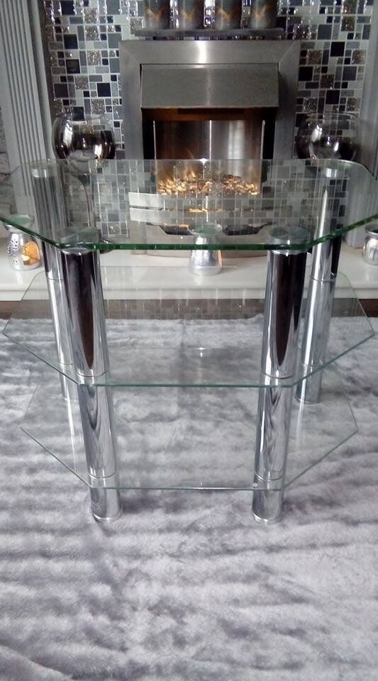 GLASS TV STAND AS NEW