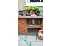 2 storey guinea pig hutch - used but still robust. very secure