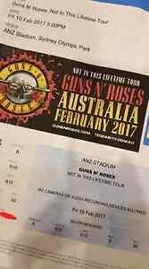 Guns n Roses tickets $100 ea Sydney City Inner Sydney Preview