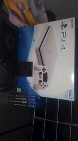 White ps4 slim with NACON pro controller and 4 games. Only used a handful of times. £200!!!!!