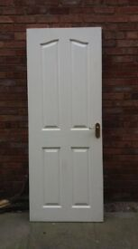 Interior Door, complete with 'brass' handles and hinges