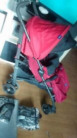 Chicco Liteway stroller + extras