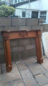 solid wood fire surround / mantlepiece