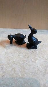 Small Cast Iron Duck Office and Home Decor Figurines Paperweights