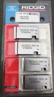 Ridgid 50780 Stainless Steel Die Set 1.5 500 Mono Pipe Threader 811 300 1822