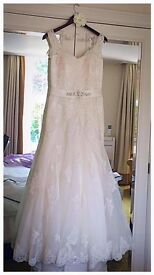 Size 16 LACE WEDDING DRESS with straps