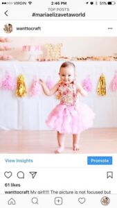 Birthday outfit bloomers and tutu 12-24 month