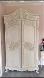 French style armoire plus two bedside cabinets