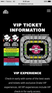 Drake VIP GA Concert Tickets (Only 4 left!!!)