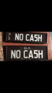 NO CA5H personalised plates Slacks Creek Logan Area Preview