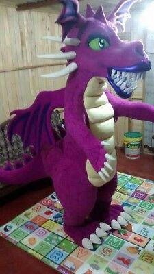 Shrek Fire Dragon Mascot Costume Party Character Birthday Halloween Cosplay Pink