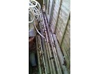 Scaffolding poles various lengths