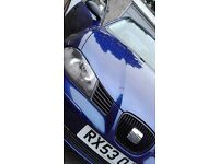 seat ibiza 2003, quick sale for 700 its worth every penny, drives brilliantly.