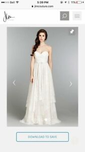 Size 10 NEVER WORN Hailey Page wedding gown- EXTREMELY CHEAP!!