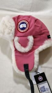 9f80eacc7121d Brand New Canada Goose Shearling Pilot Hat - Pink