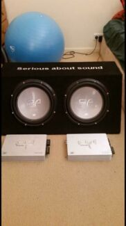 12inch option subs dual box with amps Make an offer!! Raymond Terrace Port Stephens Area Preview