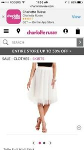 New white tulle skirt size s and med