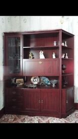 Wood Wall Unit -Excellent Condition