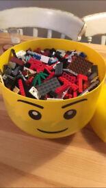 Lego storage head and Lego!